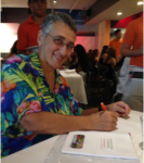 Marylee Pangman autographing her book, Getting Potted in the Desert